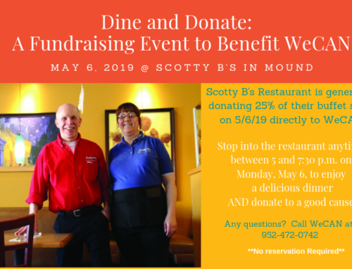 Dine & Donate to Benefit WeCan!