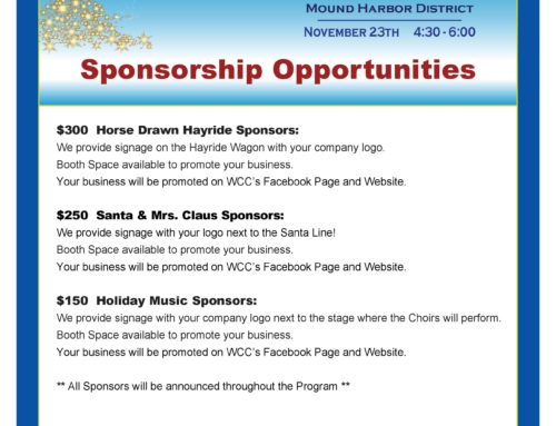 Tree Lighting Sponsorship Levels