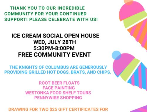 Ice Cream Social, OPEN HOUSE!  July 28th