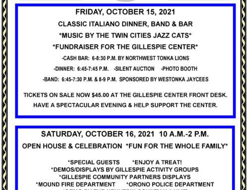 Gillespie Center 20 Year Anniversary!